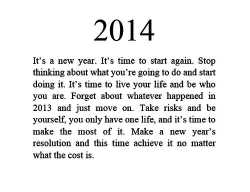 Une bonne année, enfin j'espère.