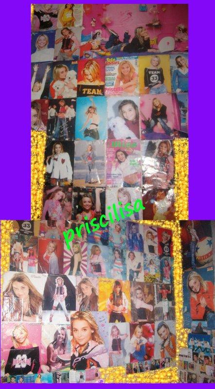 2 photos de ma chambre remplis de posters de prissou.