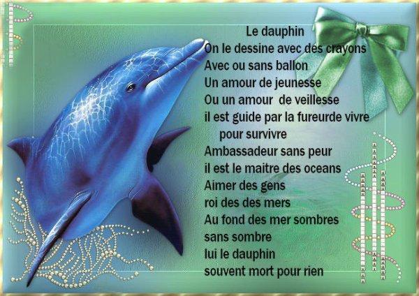 poème sur le dauphin