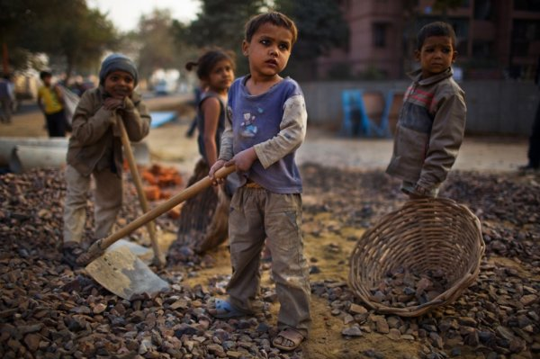 Indian children work