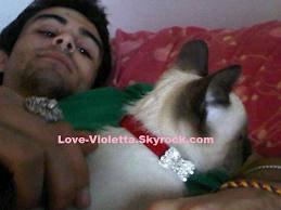 pablo avec cora mon chat