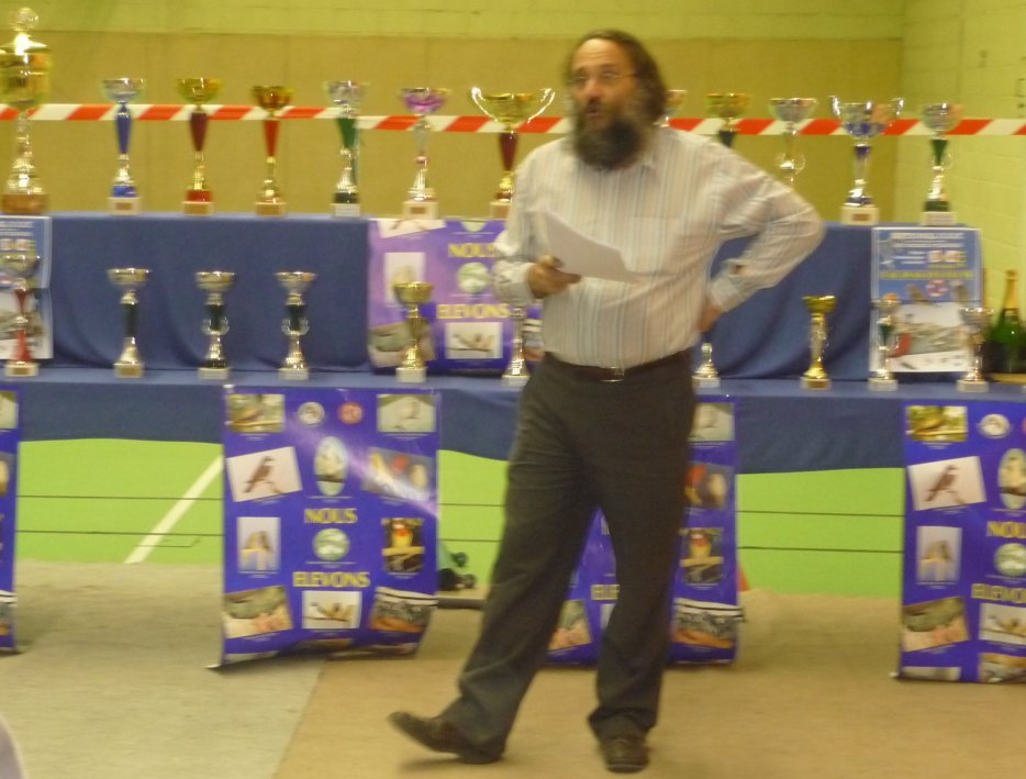 M  CHEVALLIER ALAIN  PRESIDENT DE L OISEAU CLUB REMOIS