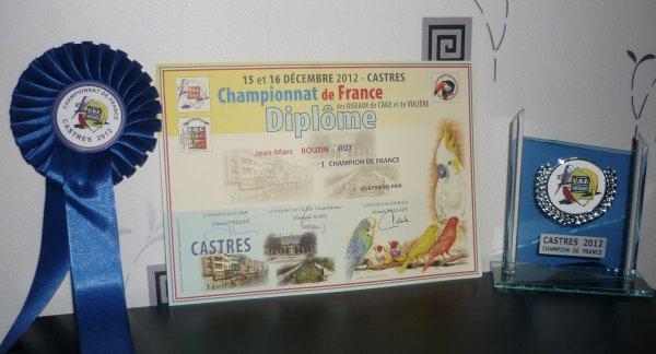 MES RESULTATS CHAMPIONNAT DE FRANCE A CASTRES