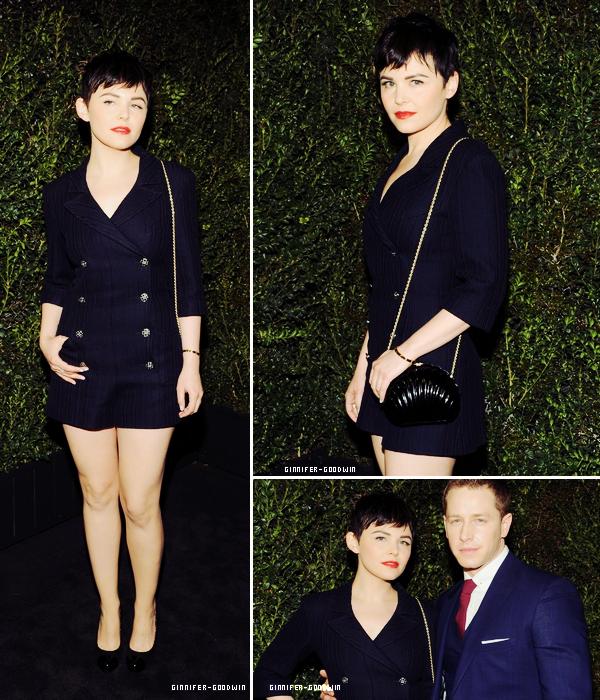I Le 24/02/13 : Ginnifer était au 2013 Chanel Pre-Oscars Dinner au Madeo Restaurant à Los Angeles.  I  J'aodre sa tenue et vous?