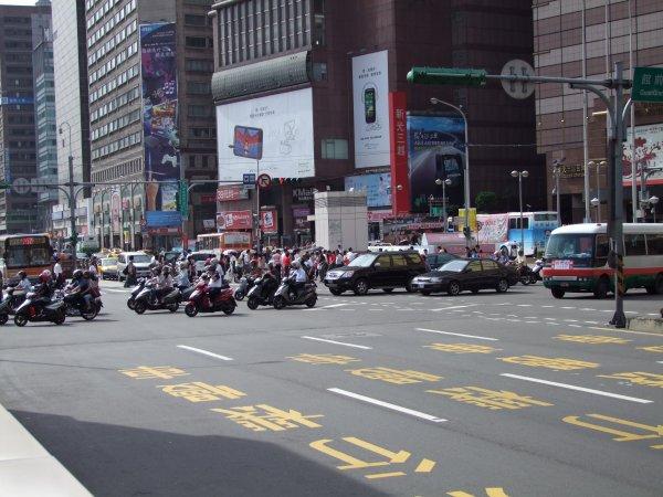 Scooters à Taipei