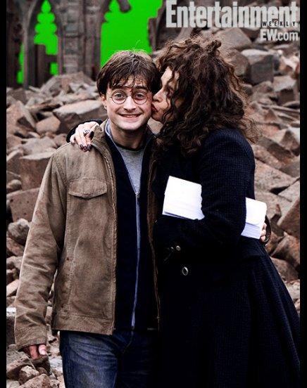 Daniel Radcliffe et Helena Bonham Carter Harry Potter et les reliques de la mort - partie 2