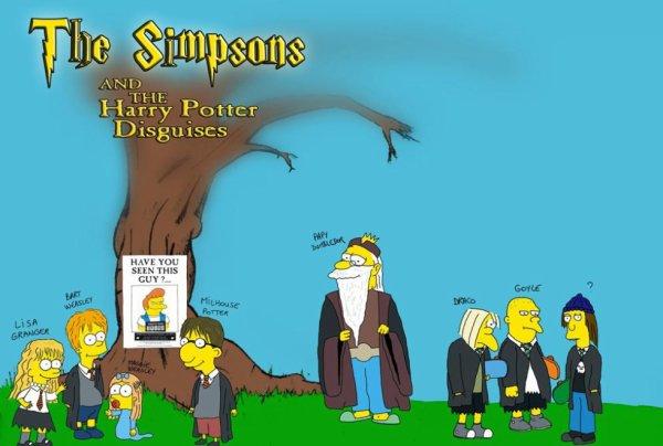 Les Simpson prennent la place de Harry Potter et ses amis