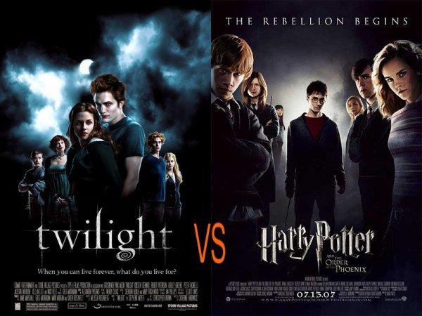 Twilight vs Harry Potter.