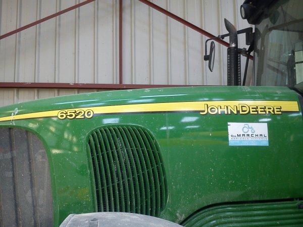 John Deere 6520 avec un  pulvérisateur Evrard Météor Plus