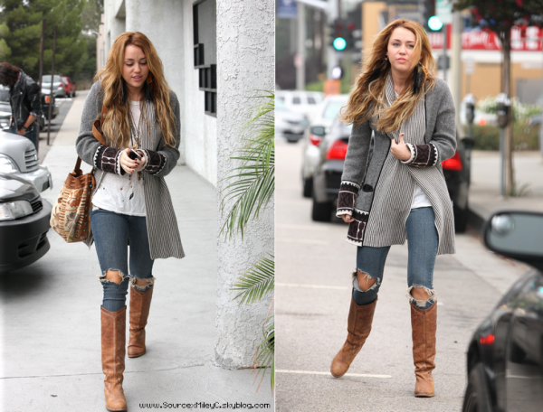 Big big bang - Photo personnelle - Miley a bervely Hills le 16/10