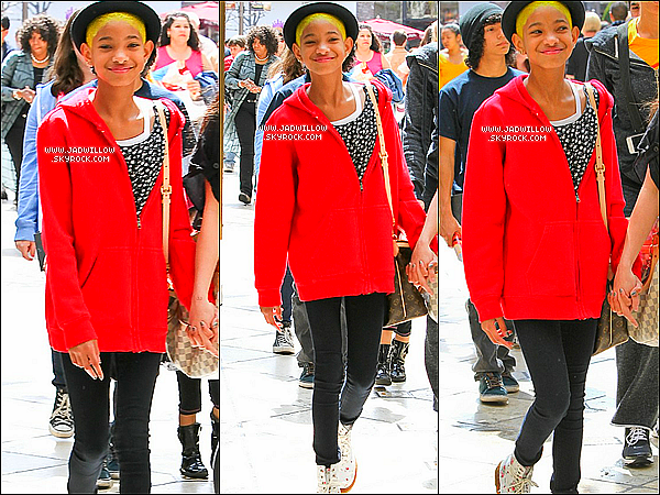 24.03.2012 : Willow Smith et Stella on été vue se rendant dans un centre commercial.