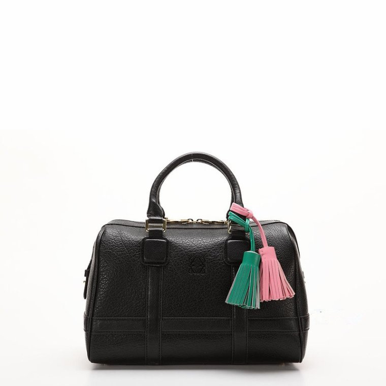 Where to shop Loewe Paseo Buffalo Handbag Black