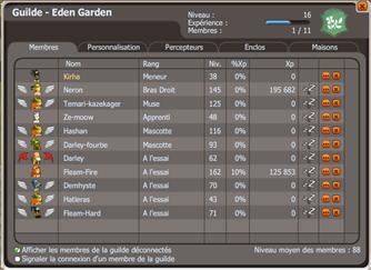 Récupération de la guilde Eden Garden et Cadeau d'abonnement  : Objivevant
