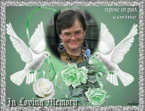 c est avec beaucoup de peine que je viens d apprendre le décès de mon amie corinne vitse