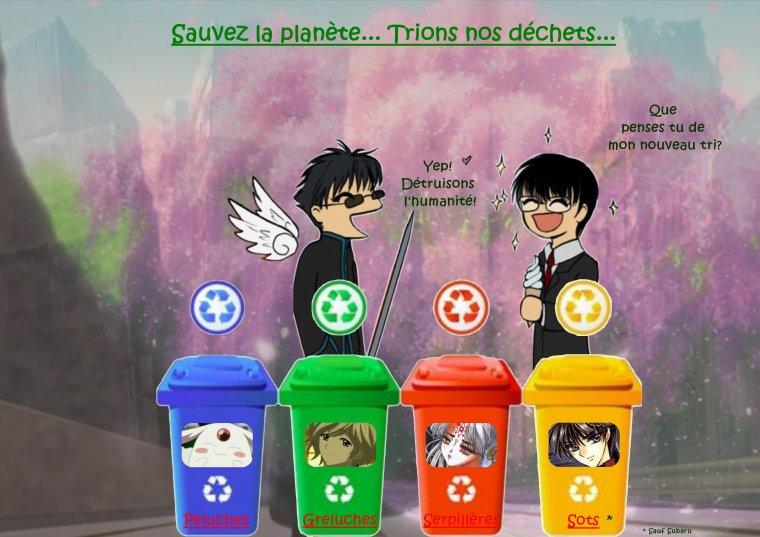 Sauvez la planète! Trions nos déchets