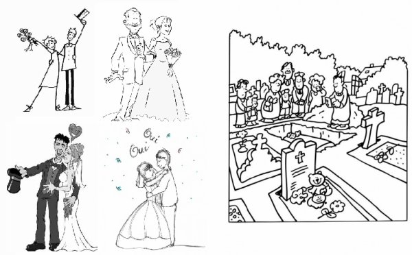 Quatre mariages, un enterrement