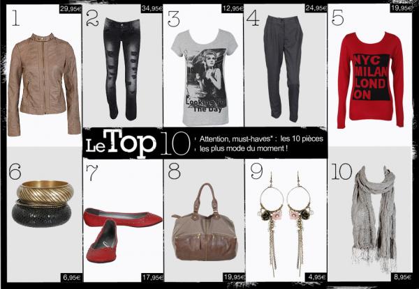 Le Top 10 (Chez Pimkie)