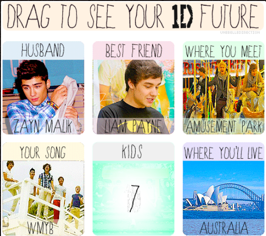 Drag To See Your 1D Future !!
