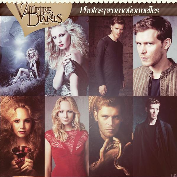 Photos promotionnelles de Candice et Joseph pour la saison 4 de TVD !  .