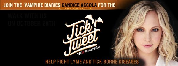 28/10/2012:Candice présente Tick'n tweet, pour l'association sur la maladie de Lyme !