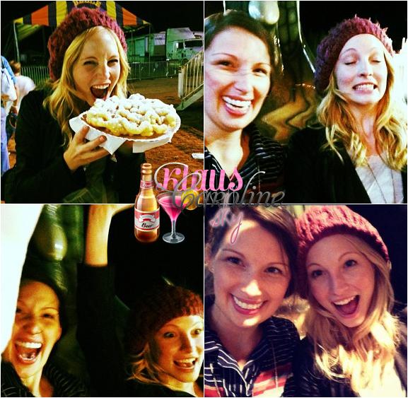 31/10/2012: Candice a été aperçue à une fête foraine (10/10/12)!