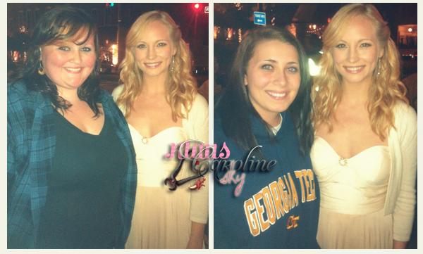 2/10/2012: Candice et Joseph avec des fans sur le tournage de l'episode 9 de VD4 !