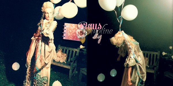 2/10/2012: Candice à une «Tea Party»entre amies sur le thème de Marie Antoinette (06/10/12) !