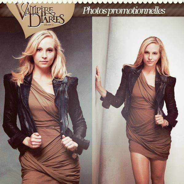 Photos promotionnelles de Candice pour la saison 2 de TVD  !  .