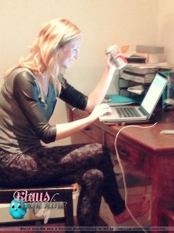 11/11/2012: Photo twitter de Julie Plec + BTS du photoshoot de Candice pour le magasine SALADA!