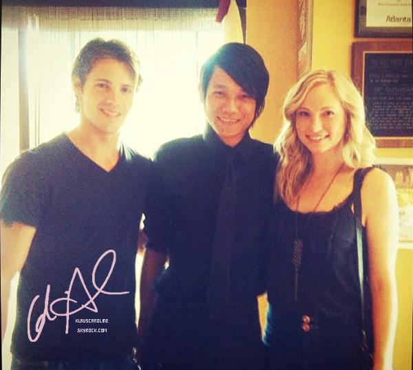 29/11/2012 : Candice Accola sur le tournage de l'épisode 14 de Vampire Diaries aux cotés de Steven McQueen!   .