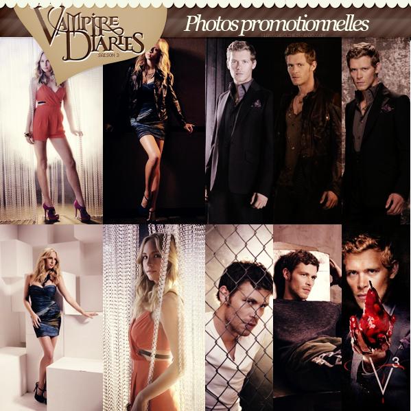 Photos promotionnelles de Candice et Joseph pour la saison 3 de TVD !  .