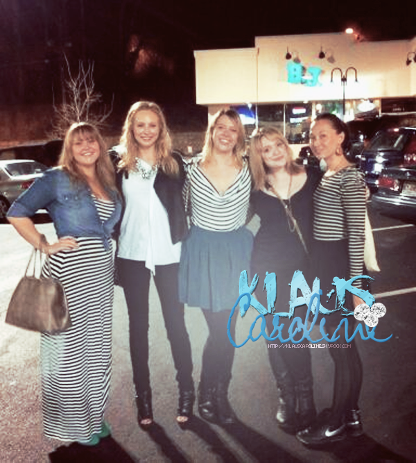 13/01/2013: Candice Accola avec des amies & Photos sur le tournage de l'épisode 15 de TVD !