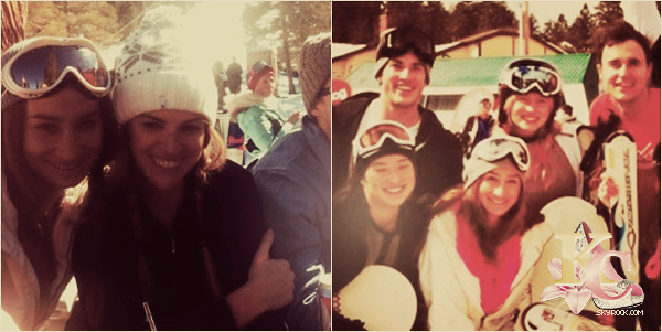 16-17/02/2013 Candice en week-end au ski à Bear Mountains!        Candice, ses amis (Amanda Gordon, Mary Miller, Sarah Godshaw, Michael Trevino et sa petite-amie Jenna Ushkowitz) et son petit ami, Joe King étaient partis en montagne pour skier.