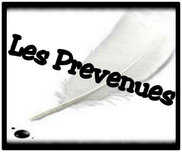 La LiiiiSTE DES PRÉVENUUES !!