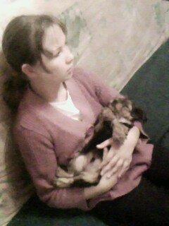 Ma soeur Élisabeth et mon chien Fidel