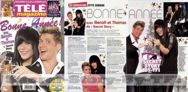 benoit et thomas dans le magazine  télé magazine