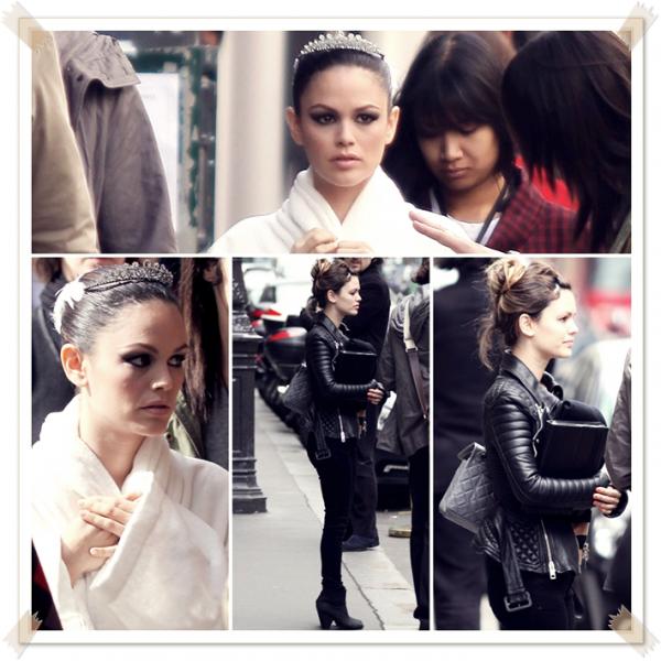 15 Mars 2011 - Rachel à Paris sur le tournage d'une pub Magnum