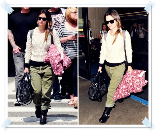 7 Avril 2011 - Rachel quitte l'aéroport de Los Angeles