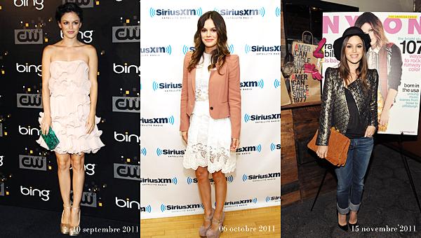 Les apparitions publiques de Rachel de Mai 2011 à Novembre 2011 (que j'ai raté !)
