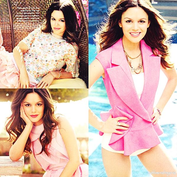 Rachel en couverture du magazine Lucky pour l'édition du mois d'Avril 2012