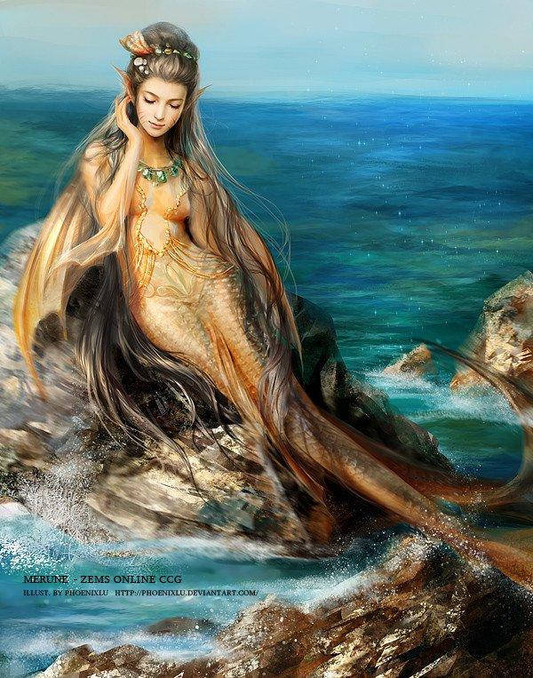 Petite sirène de la mer