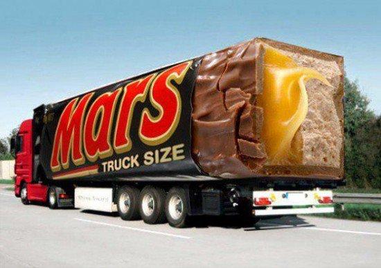 Je me demande si sur Mars, ils mangent des Terre. Puisque sur Terre on mange des Mars.