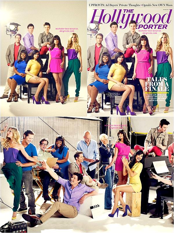 """.   Découvre des nouveaux Clichés du Photoshoot du Glee cast pour """"The Hollywood Reporter"""".    ."""