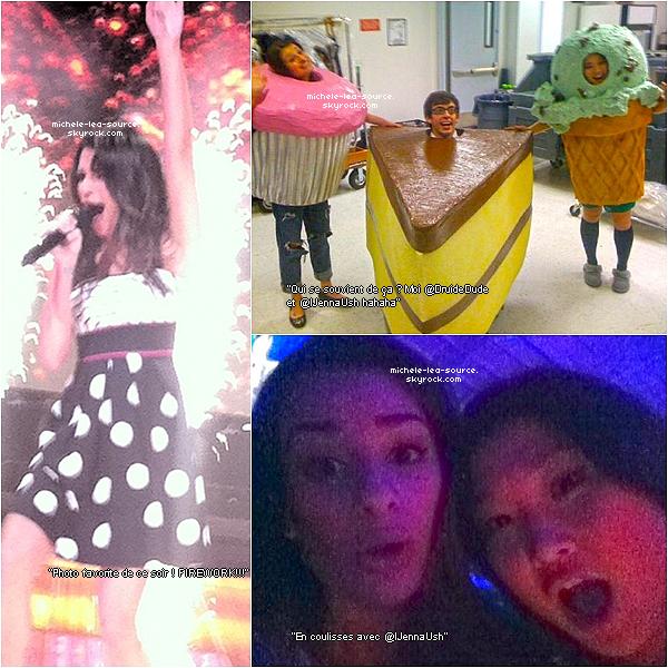 .  Voici quelque photos que Lea a posté hier sur son compte twitter.     .
