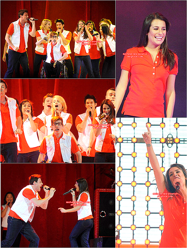 .      09/06/2011 : Le Glee Cast était en concert à Washington au Verizon Center.    .