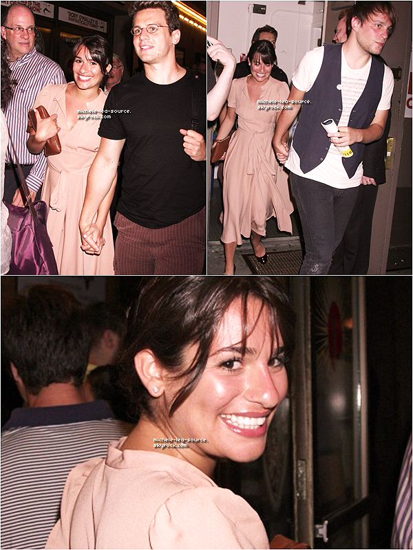 ".  10/06/2011 : Lea, Jon & Theo quittant la représentation de ""The Book of Mormon"".    ."