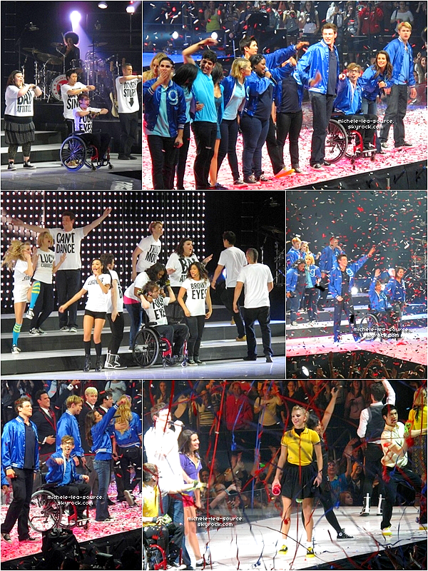 .    17/06/2011 : Le Glee Cast était en concert au Izod Center, A New Jersey.    .