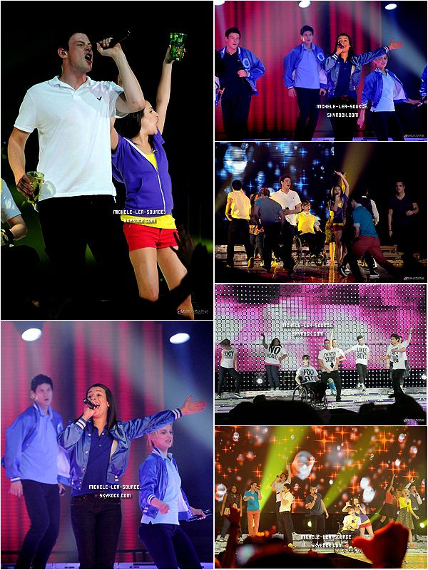 .   22/06/2011 : Le Glee Cast était en concert à Men Arena, à Manchester.    .