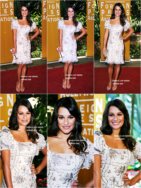 .   04/08/2011 : Lea aux Hollywood Foreign Press Association Luncheon.    .