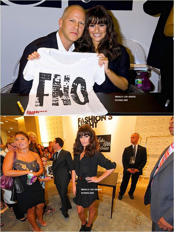 .   08/09/2011 : Lea au lancement de la Fashion Nights Out chez Sacks, à New York.     . Je la trouve magnifique, c'est un gros top pour Lea ! .